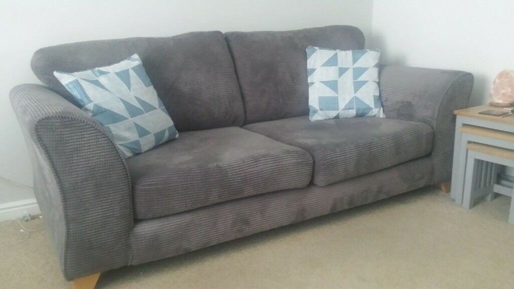 Dfs Fabric 3 Seater Sofa Swivel Chair And Footstool And