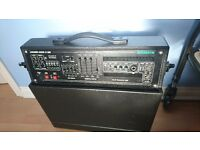 Dj Console - 600w amplifier and speakers. Ideal entry level or back up mobile unit.