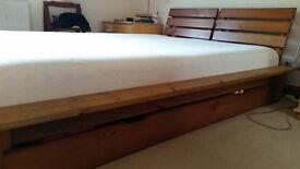 Kind size bed & Cool max memory foam mattress