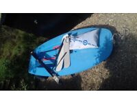 Topper sailing dinghy with lauch trolley