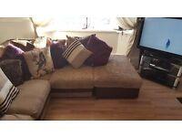 Left hand cord corner sofa