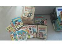 Beano and Dandy comics and albums job lot