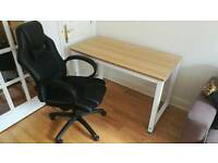 Desk and Gaming Chair