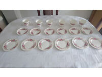 Vintage 18 piece Crown Trent Fine Bone China tea set, new and boxed.