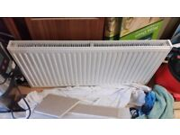2 radiators 1000x500 and 1200x400 both double convector