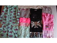 Girls t shirt bundle age 12-13 and playsuit. Mostly Marks and Spencer and Converse.&40