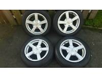 15inch Fox racing alloys wheels 5x100 fit vw fox golf mk4 seat ibiza toledo etc