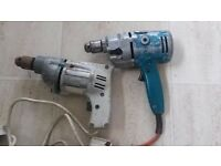 2 Vintage Electrical Drills - WOLF Saphire & Black & Decker