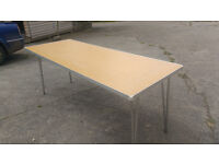 """six collapsible tables 6ft long x 2ft 3"""" wide"""