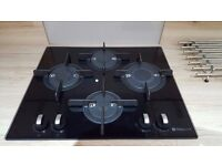 The Hotpoint Luce Black Glass Integrated Gas Hob