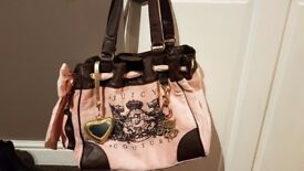 Juicy couture velour pink handbag and purse