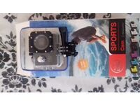 Sports action cam 1080p new boxed £25