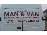 MAN & VAN/RUBBISH REMOVALS/SINGLE ITEMS MOVED/HOUSE CLEARENCES/WE MOVE ANYTHING/ALL AREAS COVERED
