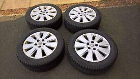 "Vauxhall 16"" wheels and Yokohama winter tyres in good condition"