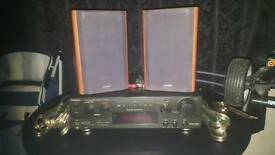 Technics Stereo Receiver amp and a set of Celestion speakers