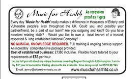 Music for health franchise for sale