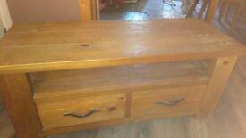 Tv unit rustic wood