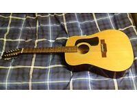 Vintage 1988 (yes 88) Genuine Washburn 12 String Acoustic Guitar