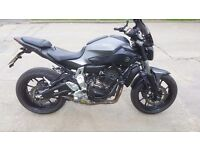 Yamaha MT-07 ABS 689cc for sale. Great condition, FSH, Akrapovic + many more extras.
