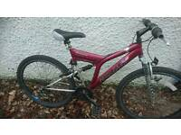 Harlem mountain bike,18 inch frame,26 inch wheels,18 gears ,good condition