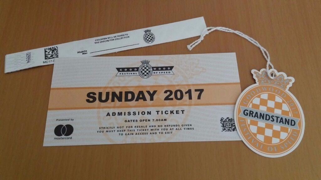 Goodwood Festival of Speed TicketGrandstandChild TicketSUNDAYin Worthing, West SussexGumtree - FOR SALE... Goodwood Festival of Speed 2017... I have one admission ticket & grandstand & childs wristband available for Sunday 02nd July £110.00. This price is below face value