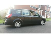 2007 renault grand scenic mpv 7-seater 1.6vvt black 100k history long mot new tow bar £1095