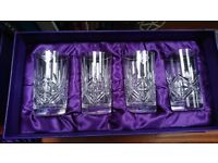 Edinburgh Crystal Wine (8) & HiBall Glasses (12) Unused