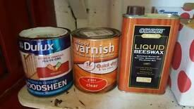 Beeswax/indoor varnish