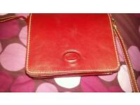 Red leather small bag