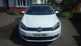 2012 Volkswagen Golf Cabriolet GT 2.0 TDi Bluemotion with Private Plate GT12CAB