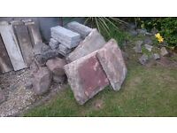 Rustic Grey Copping slabs