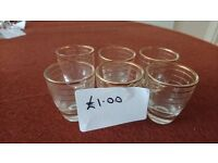 Set of 6 shot sized glasses
