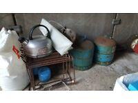 Camping equipment/calor gas bottles