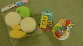 Various baby accessories, all brand new