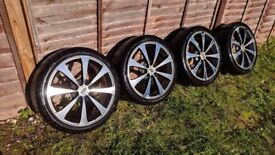 R17 4x100 4x108 Team dynamics alloy wheels with great Pirelli tyres 7jj Ford honda mazda nissan vw