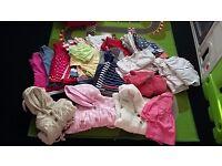 39 piece bundle of girls clothes 3-6 months