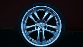 """Lenzo 18"""" Alloy wheel and tyre. . £40"""