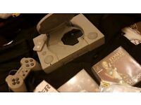 Ps1 with controller, 9 GAMES, memory card and cables TESTED FULLY WORKING