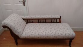 Chaise Longue fully refurbished Edwardian Art Nouveau - exquisite!