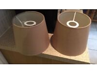 Taupe lampshades x2