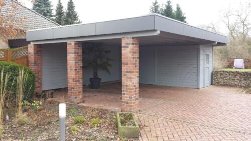 carport doppelcarport mit abstellraum 9 00m x 6 00m flachdach in nordrhein westfalen l hne. Black Bedroom Furniture Sets. Home Design Ideas