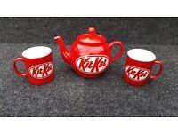 KIT-KAT TEA POT AND MUGS