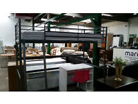Lovely silver high bed with mattress