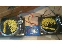 Sherwood vinyl DJ decks and mixer