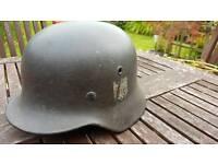 German World War Two WWII/WW2 M40 single Decal helmet (original)