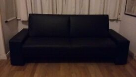 Sofa bed faux leather, easy to use.