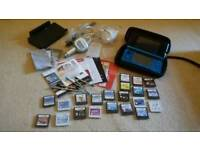 Mint condition Blue 3ds bundle 22 games 3 chargers and lots more