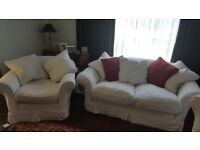 3 piece Suite by Tetrad 2 seater sofa & 2 chairs. Has easily removable covers for washing etc.