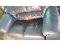 Free blue leather sofa