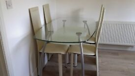 Modern Dining Table & 4 Chairs